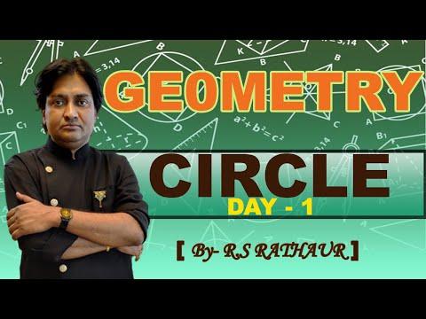 Geometry   Circle (Day - 1) By  R S RATHAUR   Rathaur Classes APP   Online LIVE Classes