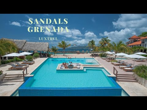 Sandals Grenada (LaSource) Review + Room Tours ( LOVE the Pink Gin Beach!!)