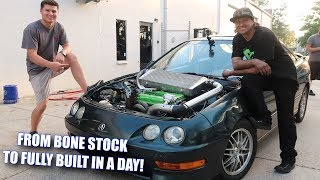 We FULLY BUILT an Integra in ONE DAY!