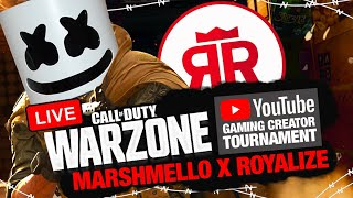 $100,000 YouTube Charity WARZONE Tournament | Marshmello + Royalize Call of Duty Duos