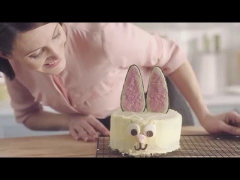 White Chocolate Easter Bunny Cake Recipe Demonstration – Bake with Stork