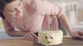 White Chocolate Easter Bunny Cake