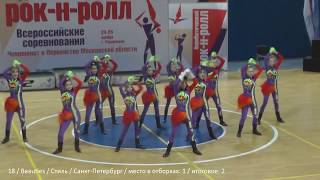 Rock-n-roll formation girls all russia teams