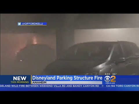 Fire Breaks Out In Disneyland Parking Structure