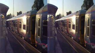preview picture of video 'Trains departing West Drayton station 3D'