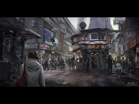 digital art environment painting bazaar by kai ng