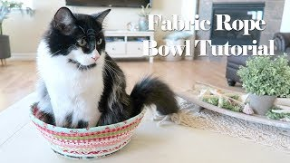 Easy Fabric Rope Bowl // SEWING TUTORIAL!!