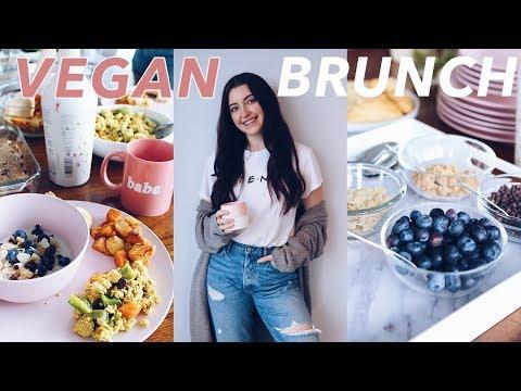 EASY VEGAN BRUNCH RECIPES | how to host a brunch in 1 hour!
