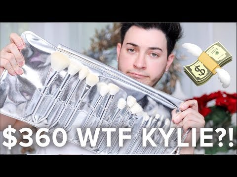 $360 KYLIE COSMETICS BRUSHES TESTED! HONEST AF REVIEW!