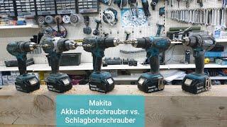 Makita 18V Akku-Schrauber und Schlagbohrschrauber (DDF482Z,DHP458Z, DDF451Z, DDF481Z, DHP481Z)