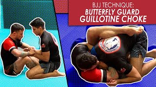 Butterfly Guard | Attacking the Guillotine choke | Jiu Jitsu technique