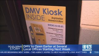 More DMV Locations To Open Earlier