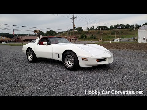 1980 White Corvette Red Int For Sale Video