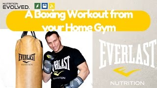 A Boxing Workout Done in your Home Gym