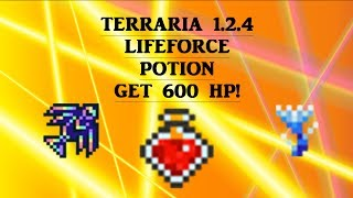 Terraria 1.2.4 Lifeforce potion  GET 600 HP