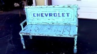 Old Repurposed Truck Tailgate Bench Auto Parts Furniture