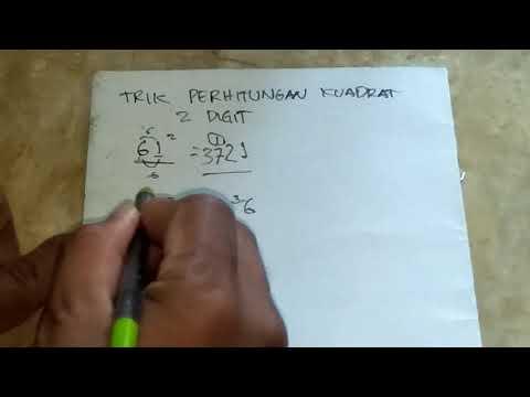 Trik Cara Menghitung Perhitungan Matematika Kuadrat Dua Digit Dengan Cepat Tanpa Kalkulator