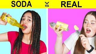 REAL FOOD VS SODA CHALLENGE!!