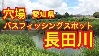 長田川穴場愛知県バス釣りポイントブラックバス