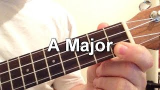 How to play A Major chord on the ukulele!