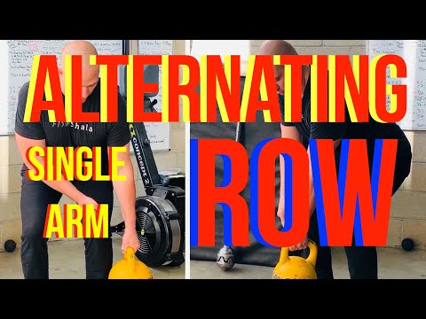 Kettlebell Alternating Single Arm Row - add complexity