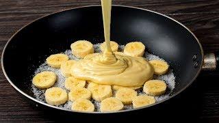 15 Minutes Banana Cake In Frying Pan | Appetizing.tv
