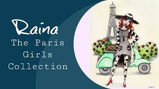 Paris Girls ~ Raina Illustration Time Lapse By Maigan Lynn
