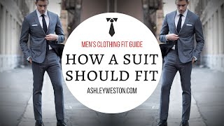 How A Suit Should Fit - Mens Clothing Fit Guide