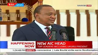 President Uhuru's speech at the AIC Milimani Church; Bishop Abraham Mulwa ordained new AIC head