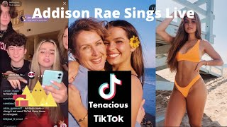 Addison Rae sings beautifully live: Tik Tok Live Tony and Addison