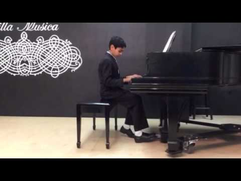 talented student at spring recital