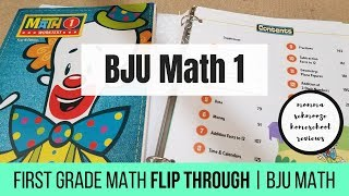 BJU MATH 1 FLIP THROUGH || FIRST GRADE MATH CURRICULUM
