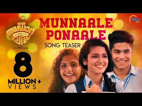 Munnale Ponnale Song Teaser - Oru Adaar Love