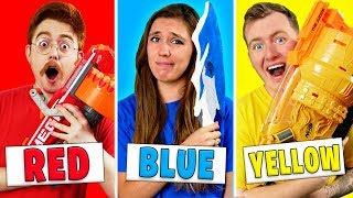 Using Only ONE Color in EXTREME Nerf War! (NERF Mystery Box Challenge)
