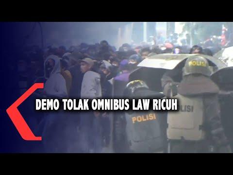 demo tolak omnibus law ricuh