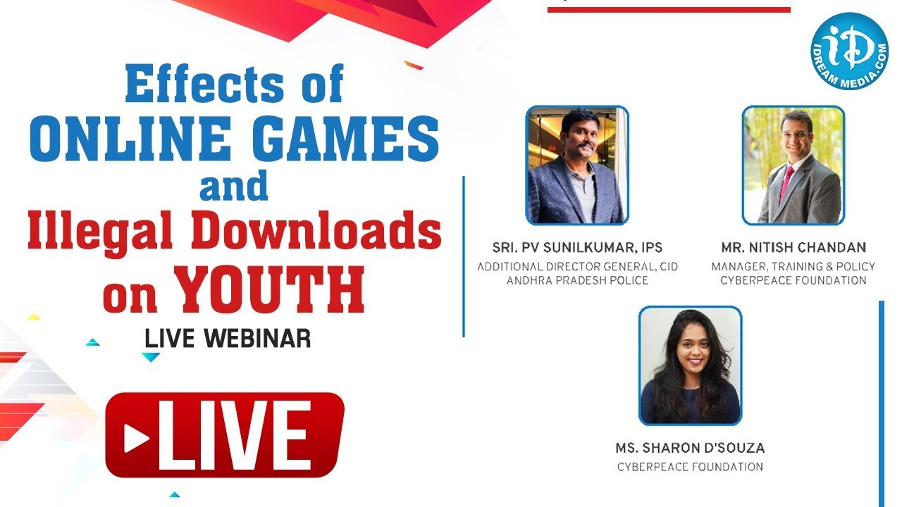 Effects of Online Games and Illegal Downloads on Youth, LIVE Webinar, #e-RakshaBandhan