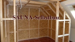 sauna in der dachschr ge sauna selber bauen. Black Bedroom Furniture Sets. Home Design Ideas
