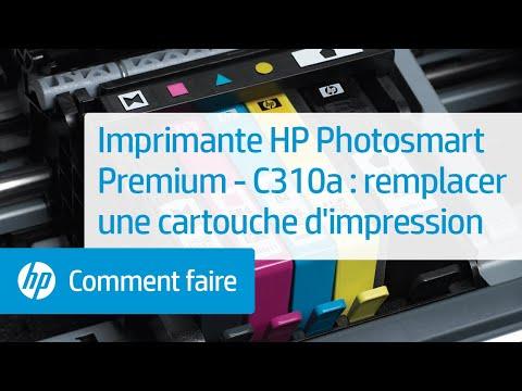 Imprimante e-tout-en-un HP Photosmart Premium - C310a : remplacer une cartouche d'impression