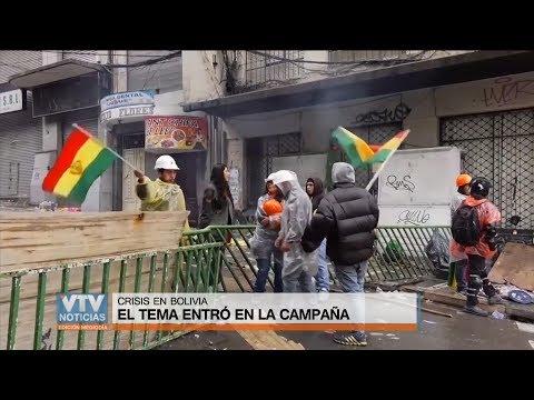 Crisis política en Bolivia: Tema de discusión en la campaña electoral