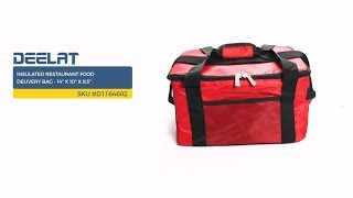 Insulated Restaurant Food Delivery Bag - 14