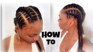 How to style your cornrows with OverTheTopHairCollection