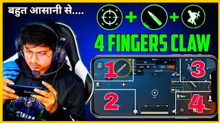 PUBG MOBILE BEST 4 FINGER CLAW SETTING EVER   NeonXGaming CLAW SETTING (Hindi)