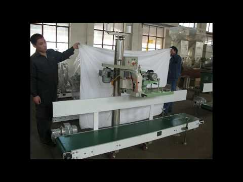 Automatic kraft paper bag sewing machine with paper wrapper