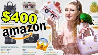 $400 AMAZON HAUL AND TRY ON!! These bags are INSANE!!