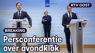 LIVE | Persconferentie kabinet over avondklok | RTV Oost
