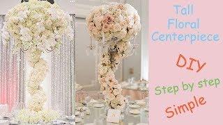 Tall floral Centerpiece / Wedding Decoration / Candelabra Creation series 5