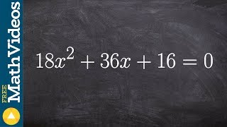 Learn how to solve a trinomial by first factoring out the GCF then factoring completely
