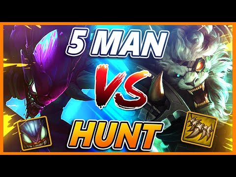 ONCE IN A LIFETIME MATCHUP! (5 MAN HUNT) - BunnyFuFuu | League of Legends