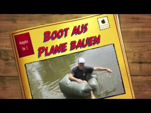 Bushcraft für Kinder: Boot aus Plane und Müllsäcken bauen