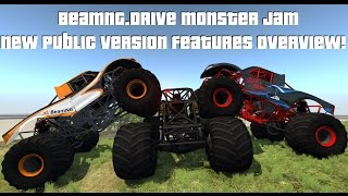 BeamNG.Drive Monster Jam; NEW PUBLIC VERSION FEATURES OVERVIEW